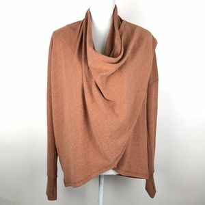 NWOT Hem & Thread Wrap Sweatshirt Rust Orange